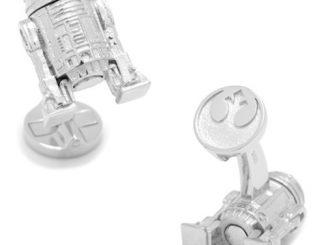 Star Wars R2-D2 3D Sterling Silver Cufflinks