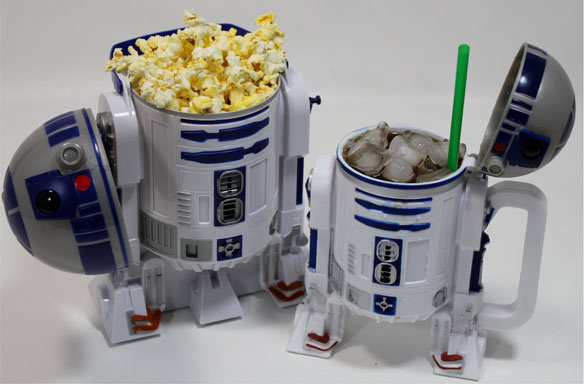 Star Wars R2-D2 Plastic Popcorn Bucket & Drink Stein Set