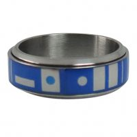 Star Wars R2-D2 Stainless Steel Plated Spinner Ring