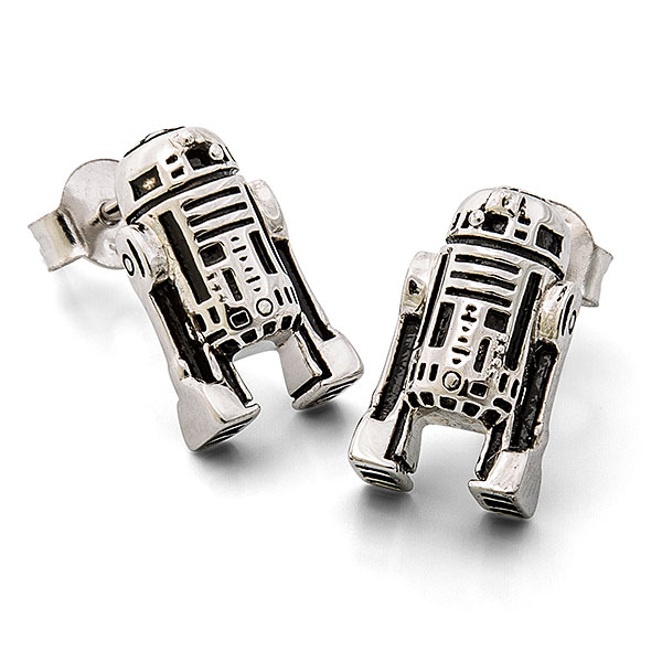 Star Wars R2-D2 Sterling Stud Earrings