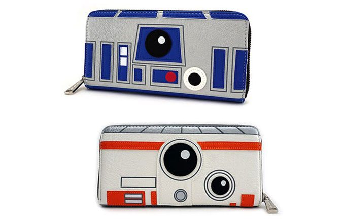 Star Wars R2-D2 and BB-8 Zip-Around Wallet