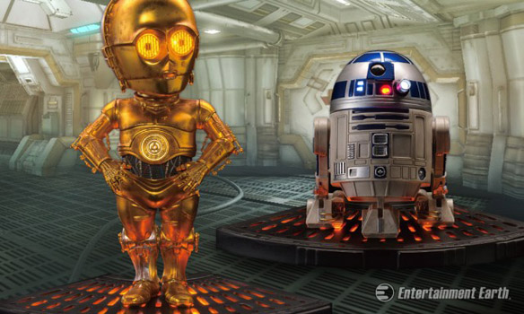 Star Wars R2-D2 and C-3PO Egg Attack Statues