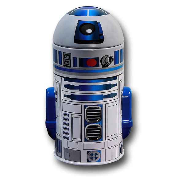 Star Wars R2D2 Cylindrical Tin Bank