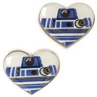 Star Wars R2D2 Heart Stud Earrings