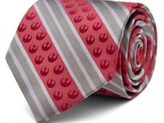 Star Wars Rebel Marsala Stripe Tie