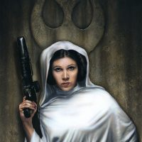 Star Wars Rebel Princess Paper Giclee Print