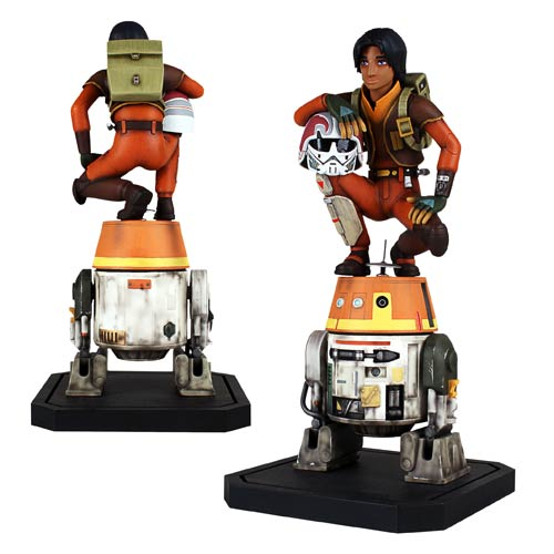 Star Wars Rebels Ezra and Chopper Maquette Statue