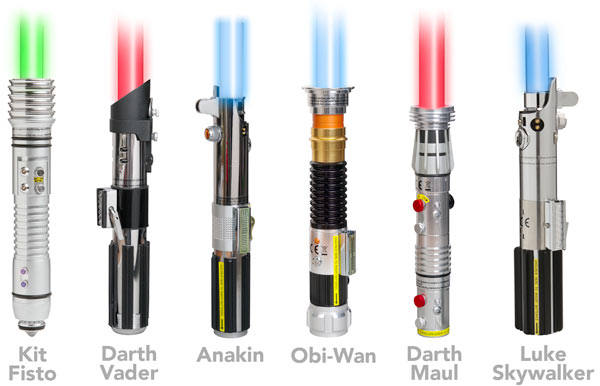 Star Wars Removable Blade Lightsabers