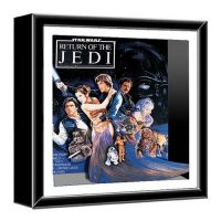 Star Wars Return of the Jedi Wood Shadow Box