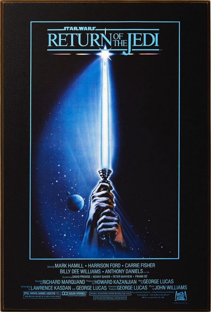 Star Wars Return of the Jedi Wood Wall Art