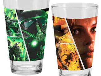 Star Wars Rogue One 16 oz. Laser Decal Glass 2-Pack