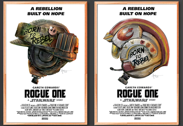 Star Wars Rogue One Born to Rebel Art Prints