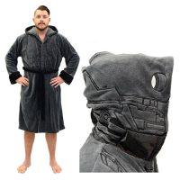 Star Wars Rogue One K-2SO Hooded Fleece Bathrobe