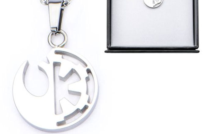 Star wars rogue one rebel alliance and galactic empire symbol cut star wars rogue one rebel alliance and galactic empire symbol cut out stainless steel pendant necklace urtaz Choice Image