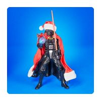 Star Wars Santa Darth Vader with Lightsaber Statue