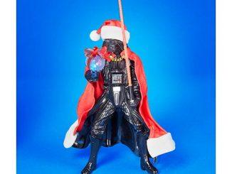 Star Wars Santa Darth Vader with Lightsaber Statue