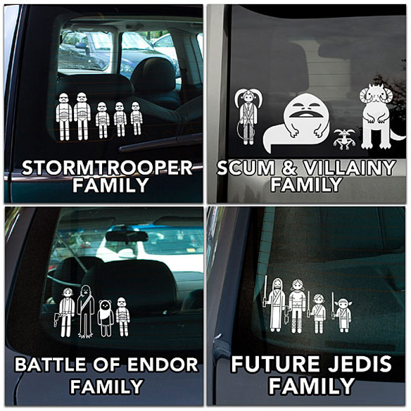 Star Wars Scum and Villainy Family Car Decals