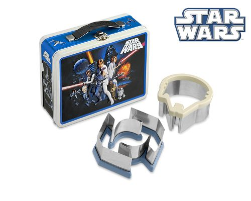 Star Wars Shaped Sandwich Maker with Vintage Star Wars lunch Box