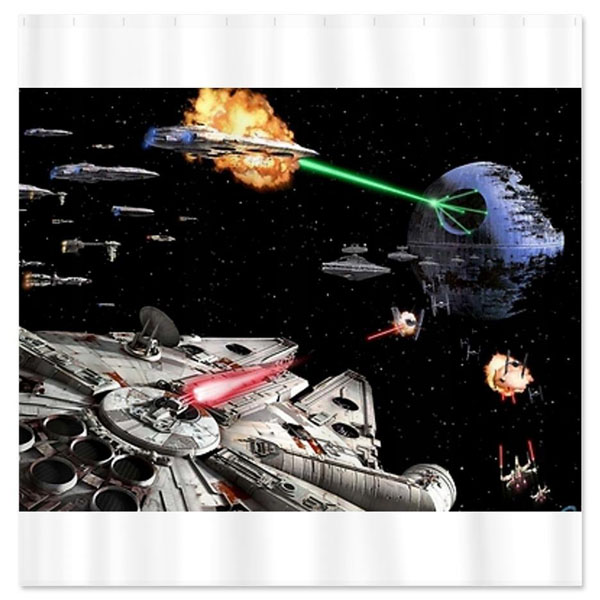 Least pretend while you are behind this star wars art shower curtain