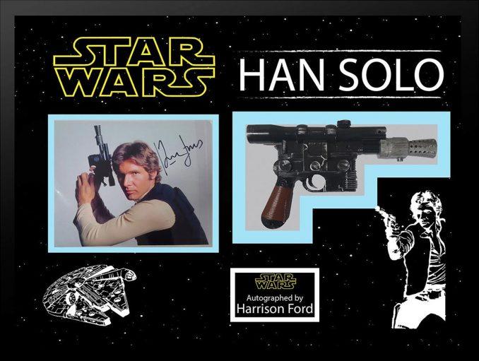 Star Wars Signed Han Solo Blaster