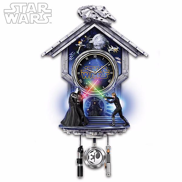 star wars sith vs jedi wall clock. Black Bedroom Furniture Sets. Home Design Ideas
