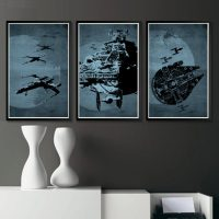 Star Wars Spaceship Poster Set