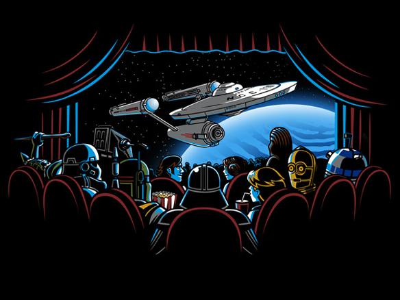 Star Wars Star Trek Movie Watchers T-Shirt