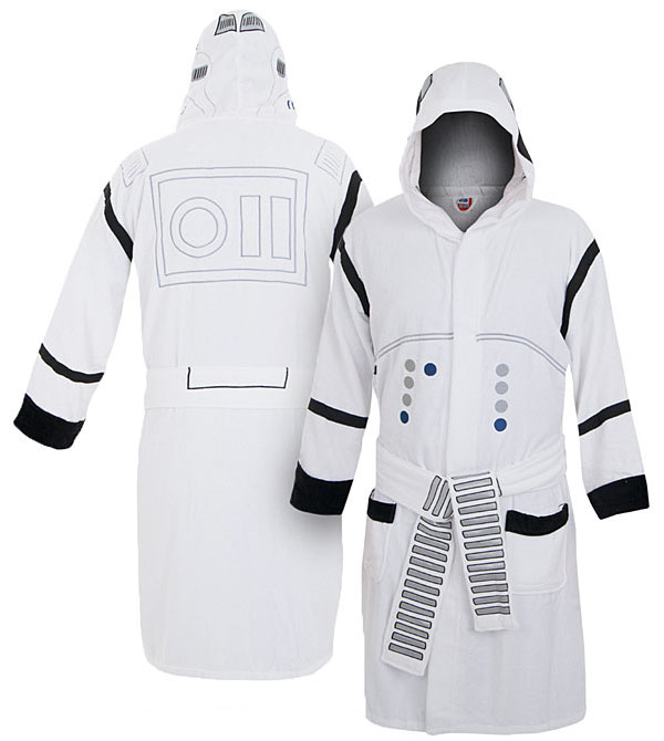 star wars stormtrooper bath robe. Black Bedroom Furniture Sets. Home Design Ideas