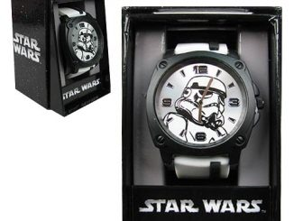 Star Wars Stormtrooper Watch with White Rubber Strap