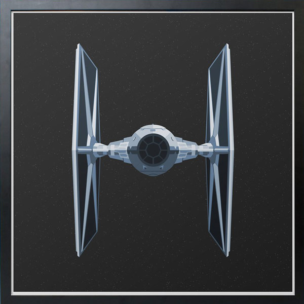 Star Wars TIE Fighter Print