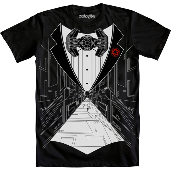 Star Wars TIE Fighter Tux Shirt