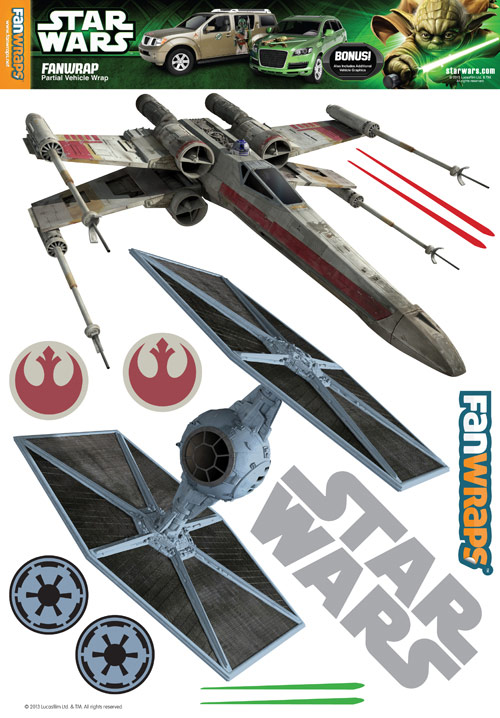 Star Wars TIE Fighter and XWing FanWraps Decals