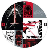 Star Wars The Force Awakens 13 1 2-Inch Cordless Wood Wall Clock