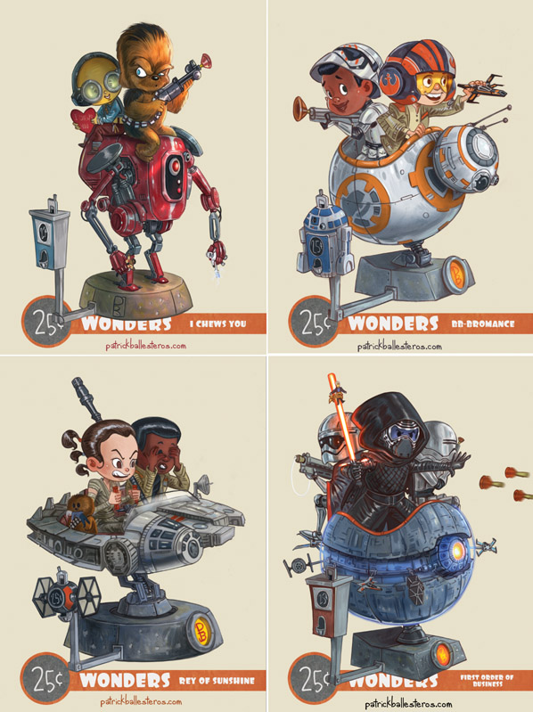 Star Wars The Force Awakens 25 Cent Wonders Art Prints