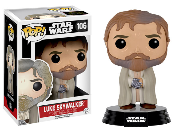 Star Wars The Force Awakens Bearded Luke Skywalker Pop Vinyl Figure