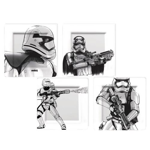 Star Wars The Force Awakens Captain Phasma and Stormtrooper Plate Set