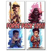 Star Wars The Force Awakens Chibi Prints 4-Pack