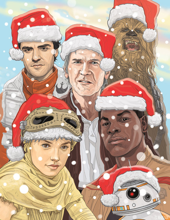 Star Wars The Force Awakens Christmas Card