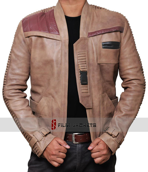 Star Wars The Force Awakens Finn Leather Jacket