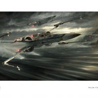 Star Wars The Force Awakens Incom T-70 Tearin It Up Print