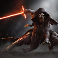 Star Wars The Force Awakens Kylo Ren Mural