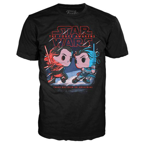 Star Wars The Force Awakens Kylo Ren Vs Rey Pop T-Shirt