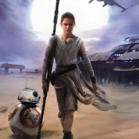 Star Wars The Force Awakens Rey Mural - small
