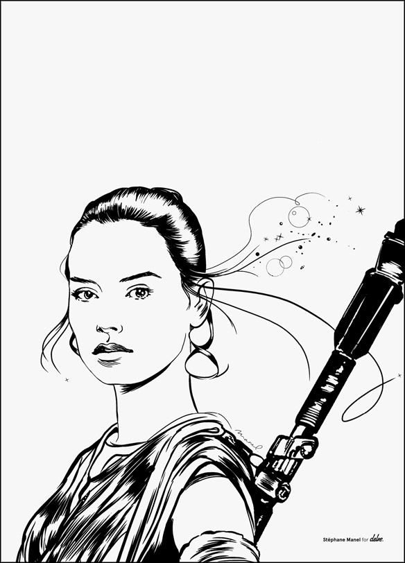 Star Wars The Force Awakens Rey Poster
