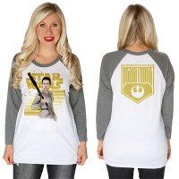 Star Wars The Force Awakens Rey Resistance Baseball Raglan T-Shirt