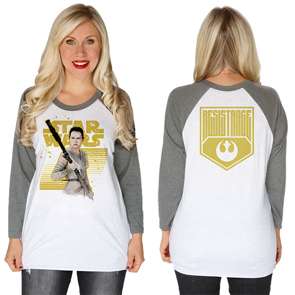 Star Wars The Force Awakens Rey Resistance Baseball Raglan T-Shirt