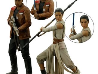 Star Wars The Force Awakens Rey and Finn ArtFX+ Statue Set