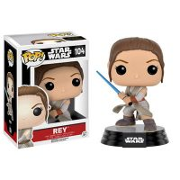 Star Wars The Force Awakens Rey with Lightsaber Pop Vinyl Figure 1