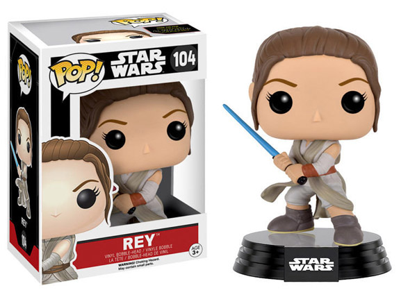 Star Wars The Force Awakens Rey with Lightsaber Pop Vinyl Figure