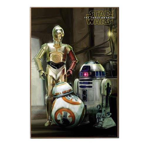 Star Wars The Force Awakens The Droids Wood Wall Art